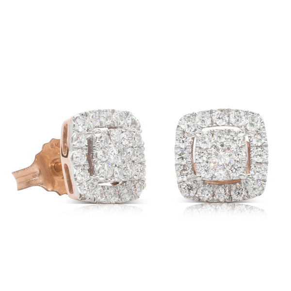 9ct Rose Gold .50ct Diamond Aquila Stud Earrings