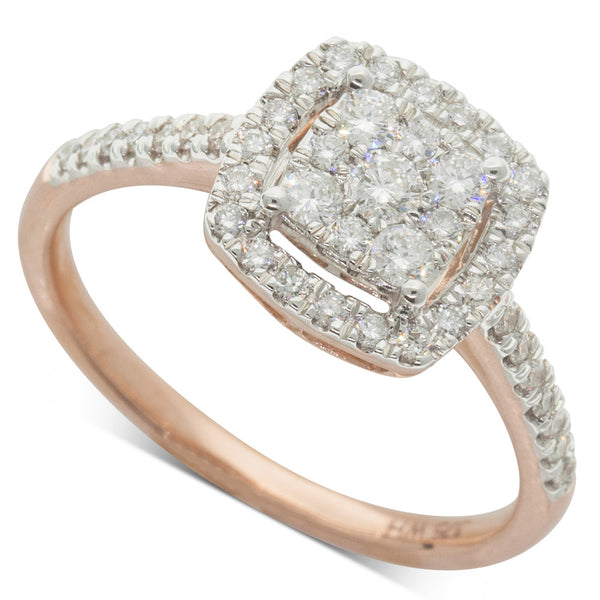 9ct Rose Gold .50ct Diamond Aquila Ring - Walker & Hall