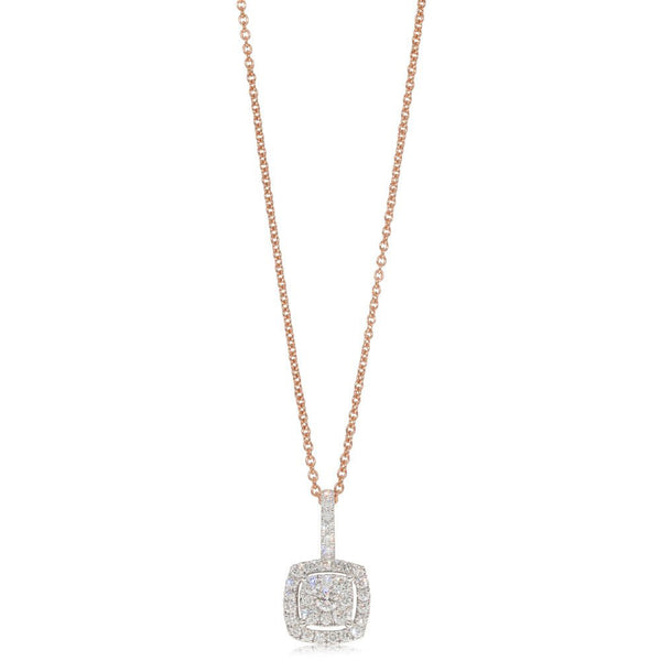 9ct Rose Gold .50ct Diamond Aquila Pendant
