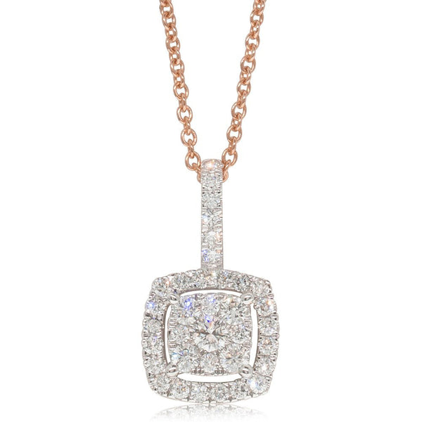 9ct Rose Gold .50ct Diamond Aquila Pendant - Walker & Hall