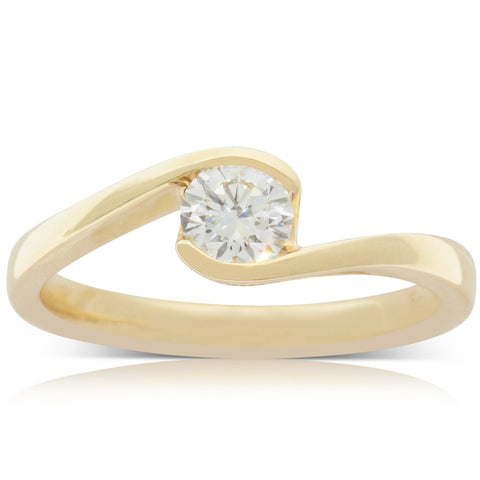 18ct Yellow Gold .42ct Diamond Embrace Ring - Walker & Hall