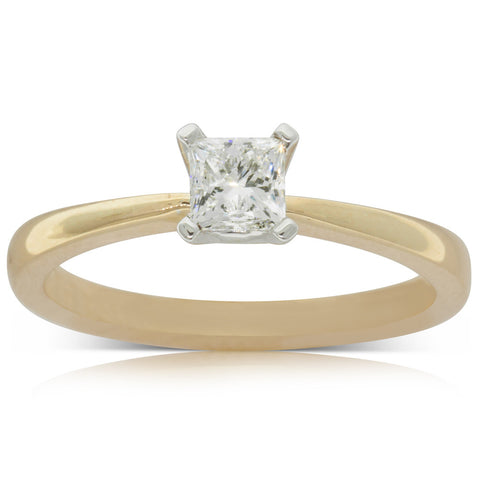 18ct Yellow Gold .46ct Diamond Royale Ring - Walker & Hall