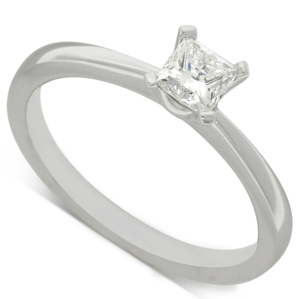 18ct White Gold .38ct Diamond Royale Ring - Walker & Hall