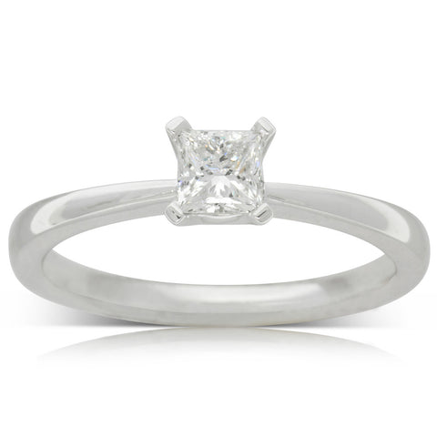 18ct White Gold .40ct Diamond Royale Ring - Walker & Hall