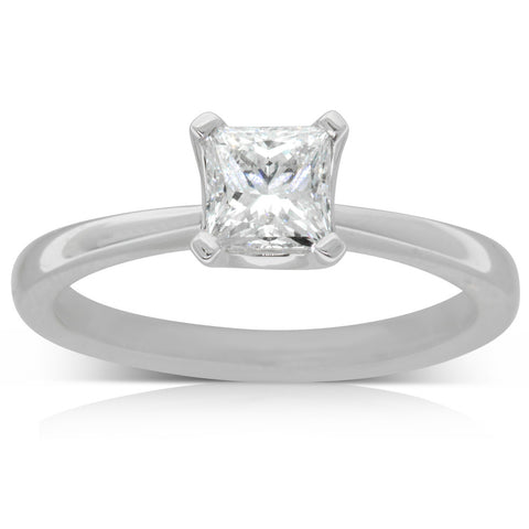 18ct White Gold .80ct Diamond Royale Ring - Walker & Hall