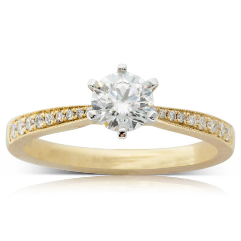 18ct Yellow Gold .59ct Diamond Zenith Ring - Walker & Hall
