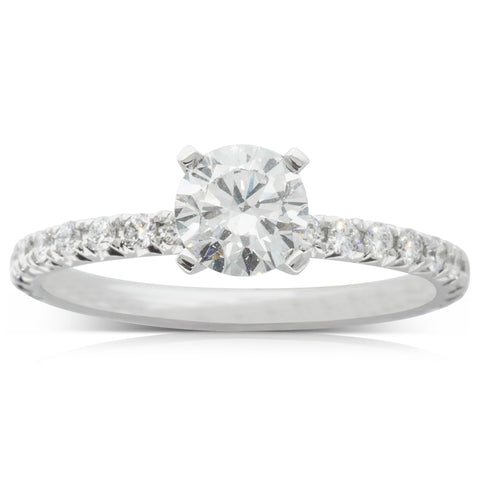 18ct White Gold .70ct Diamond Comet Ring - Walker & Hall