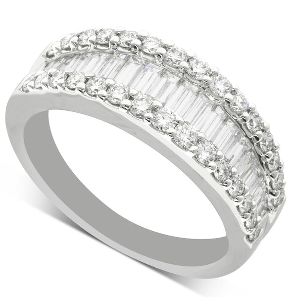 18ct White Gold 1.38ct Diamond Ring - Walker & Hall