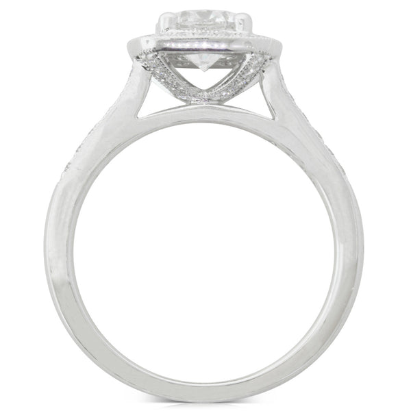 18ct White Gold 1.00ct Diamond Aurora Ring - Walker & Hall