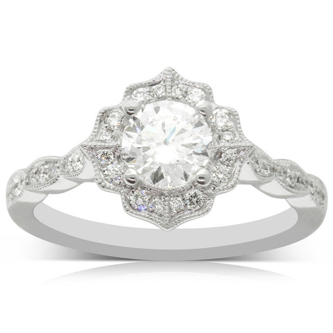 18ct White Gold .70ct Diamond Paramount Ring - Walker & Hall