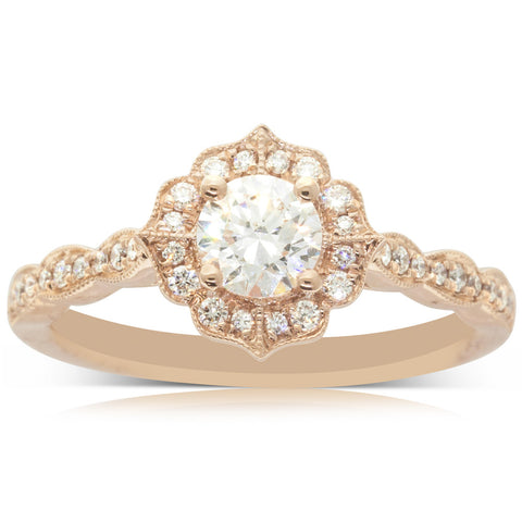 18ct Rose Gold .50ct Diamond Paramount Ring - Walker & Hall