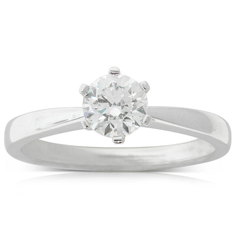 18ct White Gold .70ct Diamond Nova Ring - Walker & Hall