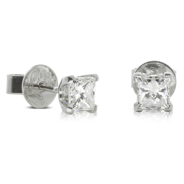 18ct White Gold 1.02ct Diamond Blossom Earrings