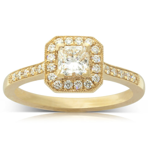 18ct Yellow Gold .51ct Diamond Mandalay Ring - Walker & Hall