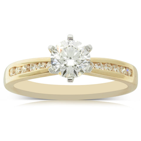 18ct Yellow Gold .80ct Diamond Avalon Ring - Walker & Hall