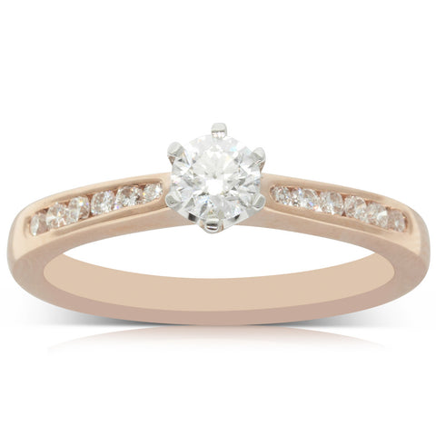 18ct Rose Gold .31ct Diamond Avalon Ring - Walker & Hall