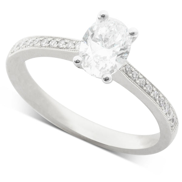 18ct White Gold .80ct Diamond Ring - Walker & Hall