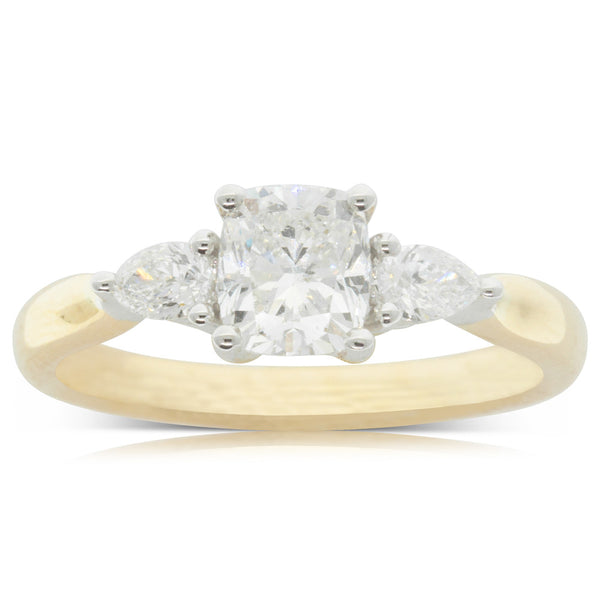 18ct Yellow Gold 1.01ct Diamond Elysian Ring - Walker & Hall