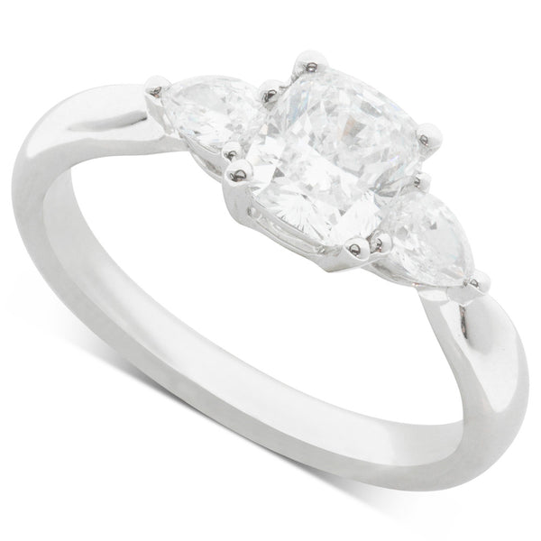 18ct White Gold 1.01ct Diamond Elysian Ring - Walker & Hall