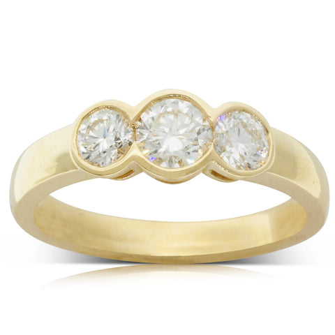 18ct Yellow Gold .41ct Diamond Ring - Walker & Hall