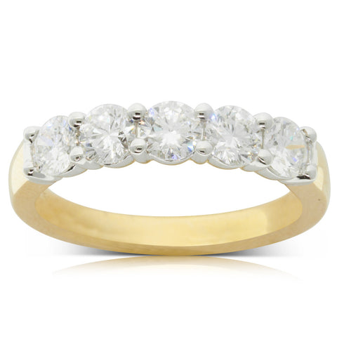 18ct Yellow Gold 1.26ct Diamond Panorama Ring - Walker & Hall
