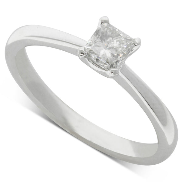 18ct White Gold .47ct Diamond Royale Ring - Walker & Hall