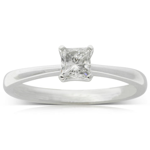18ct White Gold .48ct Diamond Royale Ring - Walker & Hall