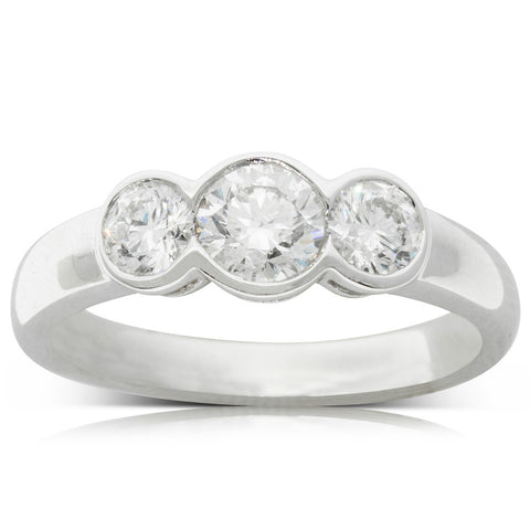 18ct White Gold .52ct Diamond Ring - Walker & Hall