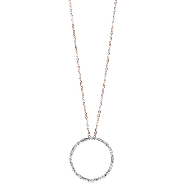9ct Rose Gold Forevermore Pendant - Walker & Hall