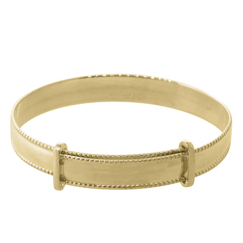 9ct Yellow Gold Expandable Baby Bangle - Walker & Hall