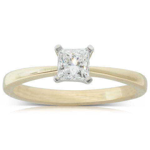 18ct Yellow Gold .53ct Diamond Royale Ring - Walker & Hall