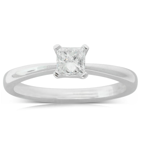 18ct White Gold .52ct Diamond Royale Ring - Walker & Hall
