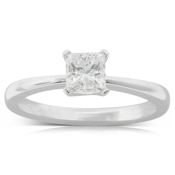 18ct White Gold .70ct Diamond Royale Ring - Walker & Hall