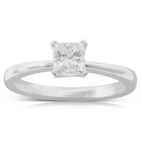 18ct White Gold .71ct Diamond Royale Ring - Walker & Hall