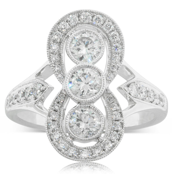 18ct White Gold 1.13ct Diamond Ring - Walker & Hall