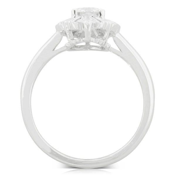 18ct White Gold .51ct Diamond Ring - Walker & Hall
