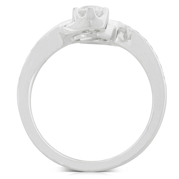 18ct White Gold .91ct Diamond Ring - Walker & Hall