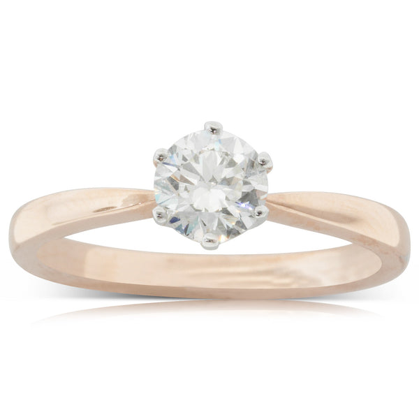 18ct Rose Gold .70ct Diamond Nova Ring - Walker & Hall