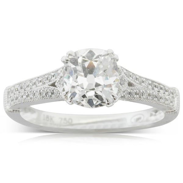 18ct White Gold 1.05ct Diamond Ring - Walker & Hall
