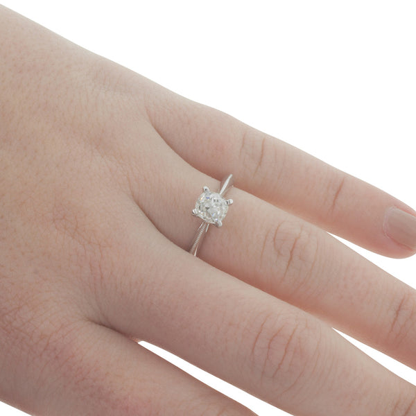 18ct White Gold 1.03ct Diamond Solitaire Ring - Walker & Hall