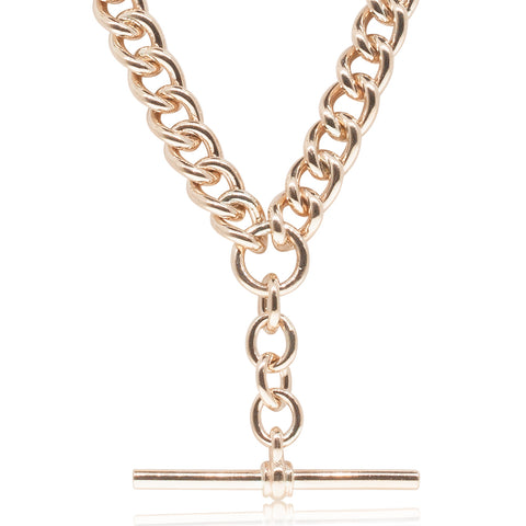 9ct Rose Gold Albert Chain Necklace - Walker & Hall