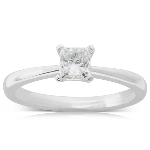 18ct White Gold .60ct Diamond Royale Ring - Walker & Hall
