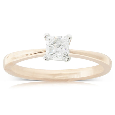 18ct Rose Gold .50ct Diamond Royale Ring - Walker & Hall