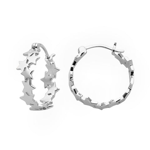 Karen Walker Supernova Hoops - Sterling Silver - Walker & Hall