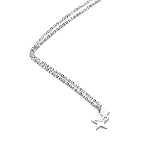 Stolen Girlfriends Club Double Star Pendant - Sterling Silver - Walker & Hall