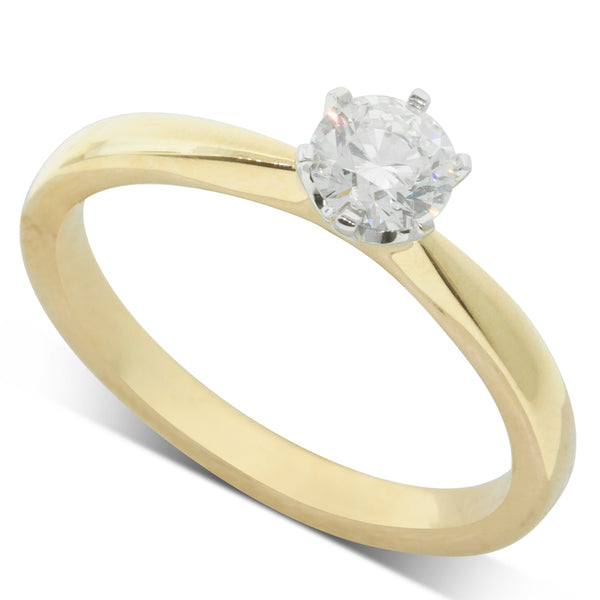18ct Yellow Gold .40ct Diamond Nova Ring - Walker & Hall