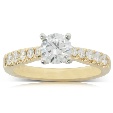 18ct Yellow Gold .80ct Diamond Phoenix Ring - Walker & Hall