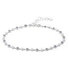 18ct White Gold Sapphire & Diamond Bracelet - Walker & Hall