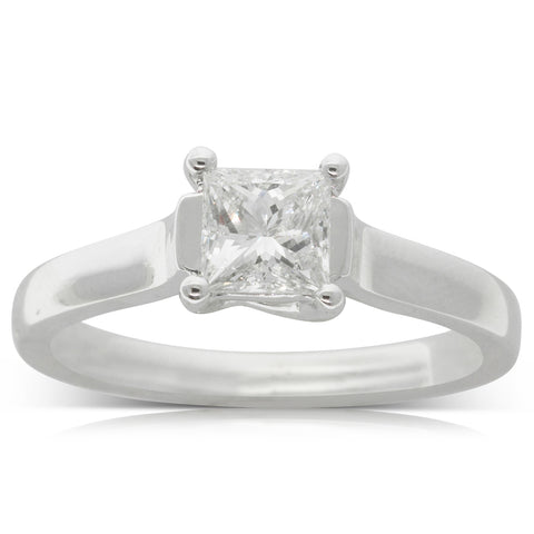 18ct White Gold .70ct Diamond Solitaire Ring - Walker & Hall
