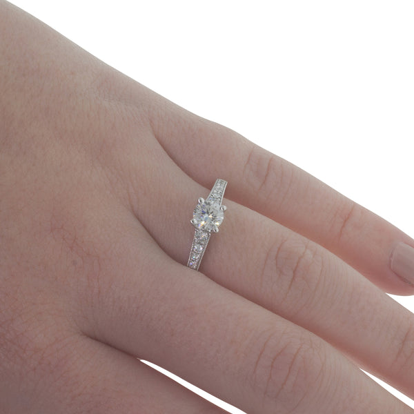 18ct White Gold .50ct Diamond Vantage Ring - Walker & Hall